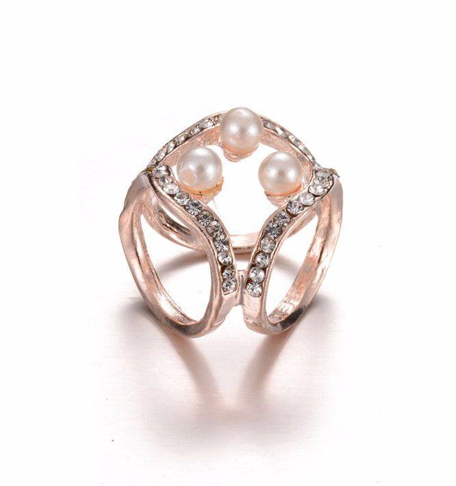 Prsteň na šatku - luxury s perlami - praktická a kvalitná ozdoba na šatku