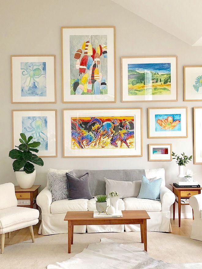 art gallery inspiration artwork against neutral wall color benjamin rh pinterest com