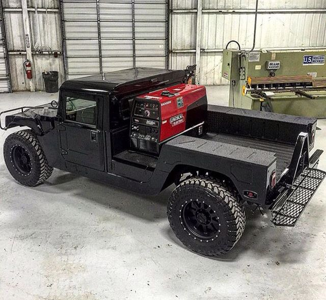 Welding rig.