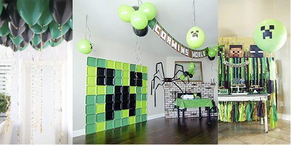 minecraft decoration вечеринка в стиле майнкрафт