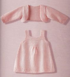 sweet dress & shrug for baby ~ free pattern                                                                                                                                                     More