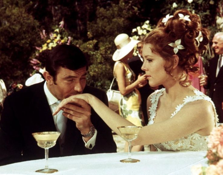 George Lazenby and Diana Rigg in On Her Majesty's Secret Service (1969) Directed by Peter R. Hunt