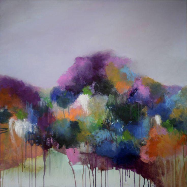 """Heaven Can Wait,"" abstract expressionist painting by Anna Scheuler | Take a peek inside her artist studio: http://magazine.saatchiart.com/articles/artnews/saatchi-art-news/inside-the-studio-saatchi-art-news/anna-schueler"