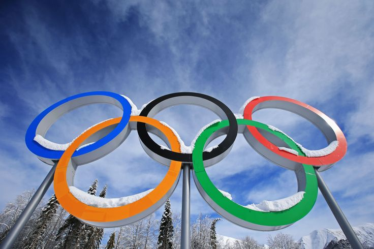 Snow collects on the Olympic Rings during day 12 of the 2014 Sochi Winter Olympics at Laura Cross-country Ski & Biathlon Center (c) Getty Images