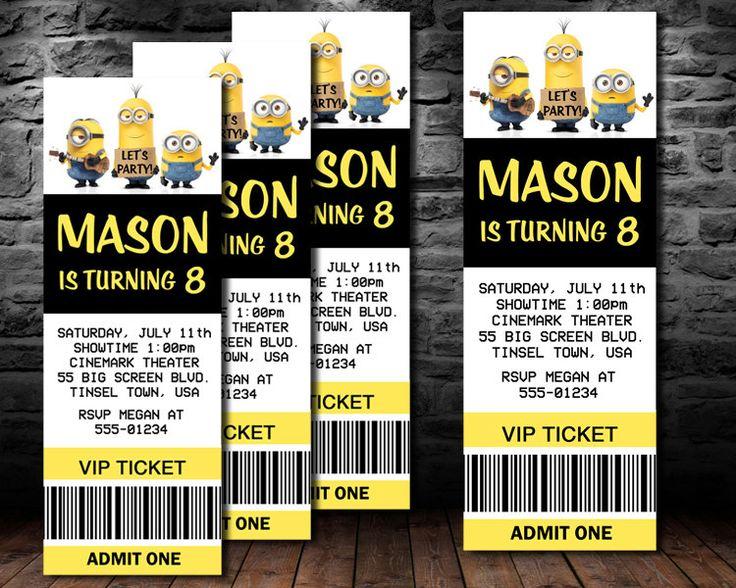 Best 25 Minion party invitations ideas on Pinterest