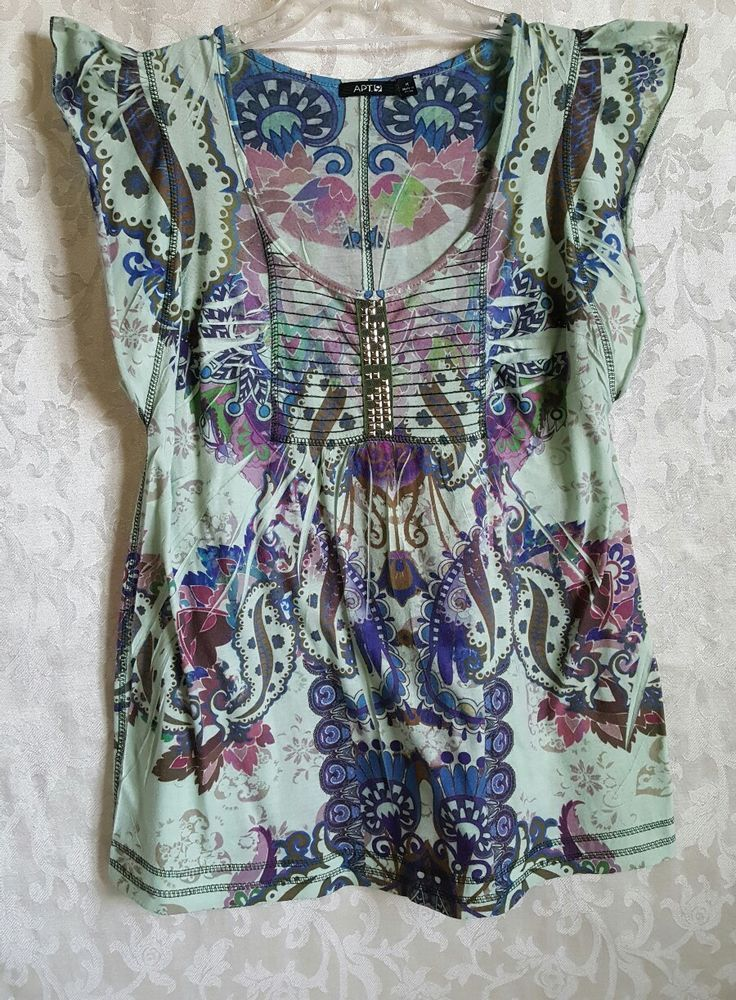 APT.9 Womens Cap Sleeve Style Blouse Top Size Med Mint Green Purple Gold Blue | Clothing, Shoes & Accessories, Women's Clothing, Tops & Blouses | eBay!
