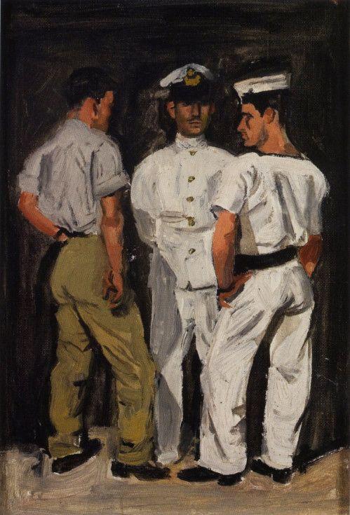 Yannis Tsarouchis 1954. Greek painter 1910-1989.