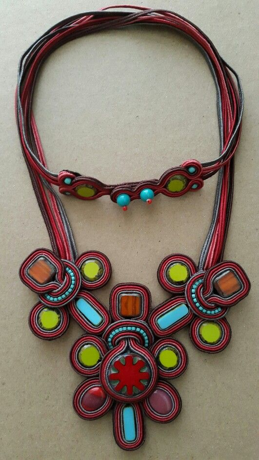 'Dragonfly' soutache necklace by Febrini Ananda Risyad