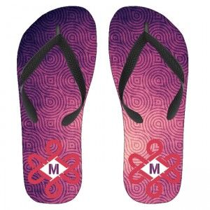 Custom Purple Swirl Pattern Monogram Kids Flip Flops is an ultra-comfortable flip-flop that adds a bit of sparkle and shine to your kids summer wardrobe,wearing this style printed Your Text on sole flip flops with black straps ultrasoft for your kids feet.