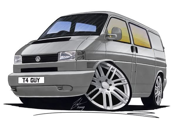 vw bus cartoon pictures | Caricature of my bus? - VW T4 Forum - VW T5 Forum