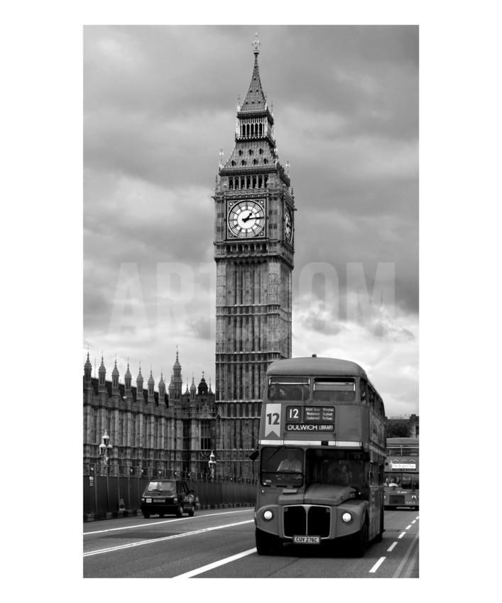 Биг Бен, Лондон, Англия, ЧБ фотография, фотоотпечаток Винсент Эбби Арт.ко.Великобритания