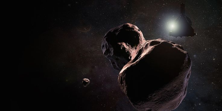 Artist's concept of the New Horizons spacecraft's flyby of 2014 MU69. Credit: NASA/Johns Hopkins University Applied Physics Laboratory/Southwest Research Institute/Steve Gribben