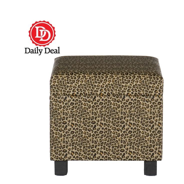 Leopard Storage Ottoman