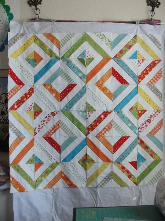 jelly roll quilt - love this pattern!