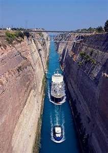 3rd stop Nauplia, Greece. Corinth Canal