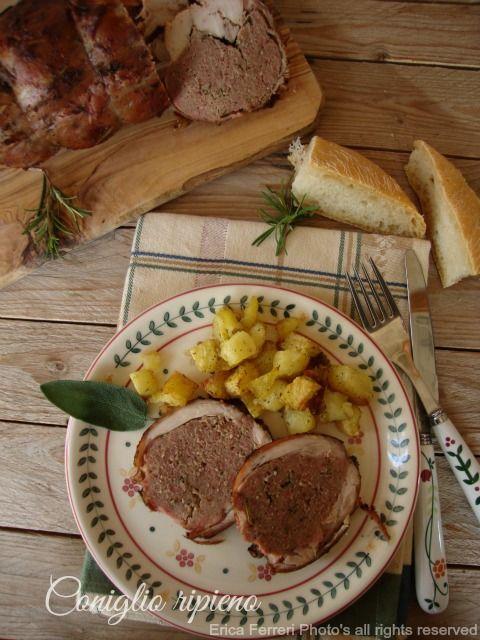 Ogni riccio un pasticcio - Blog di cucina: Coniglio ripieno arrosto - Ricetta tradizionale toscana