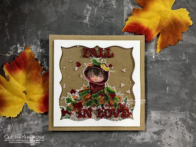As if by magic by Olesya Kharkova: Fall in love | Love card