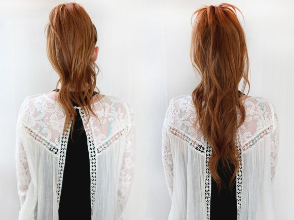 rstyle that looks effortless and playful, but chic at the same time. Today I want to share with you a little secret to make your ponytail look longer and fuller. I've been doing this trick for years and am always looking for people to share it with.