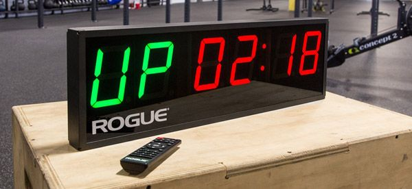 The Rogue Fitness Echo Programmable Gym Timer