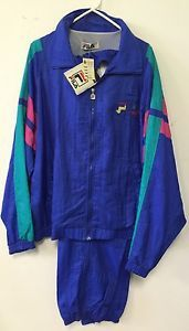 Vtg-Early-90s-Fila-Italy-Mens-Track-Suit-Jacket-Pants-Sz-XL-Shoe