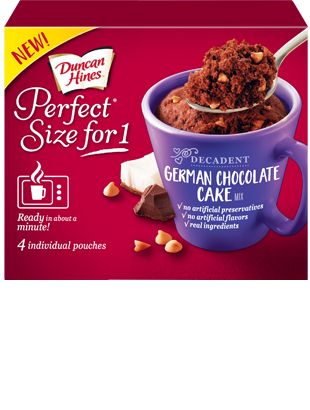 Duncan Hines Perfect Size for One in German Chocolate Cake