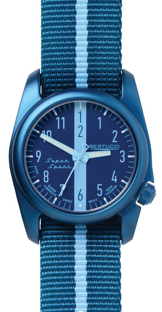 293d04ce4302 Bertucci 12065 A-2T Super Sport Men s Watch Titanium Case Blue Nylon Strap