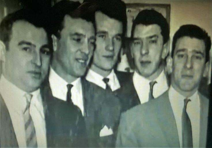 Freddie Foreman and Albert Donoghue with Charlie, Ronnie and Reggie.