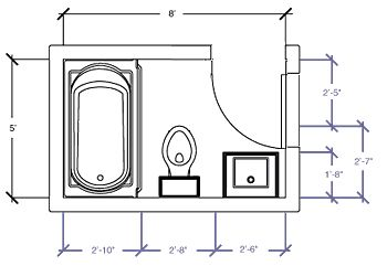 Small Bathroom Floor Plans...this Is The Exact Size Of Our Tiny Bathroom |  For The Home | Pinterest | Small Bathroom Floor Plans, Bathroom Floor Plans  And ...