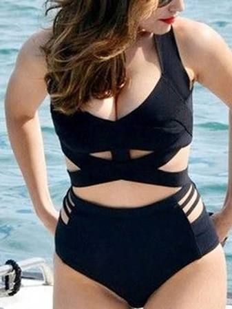 high waisted bikini for big bust - Google Search