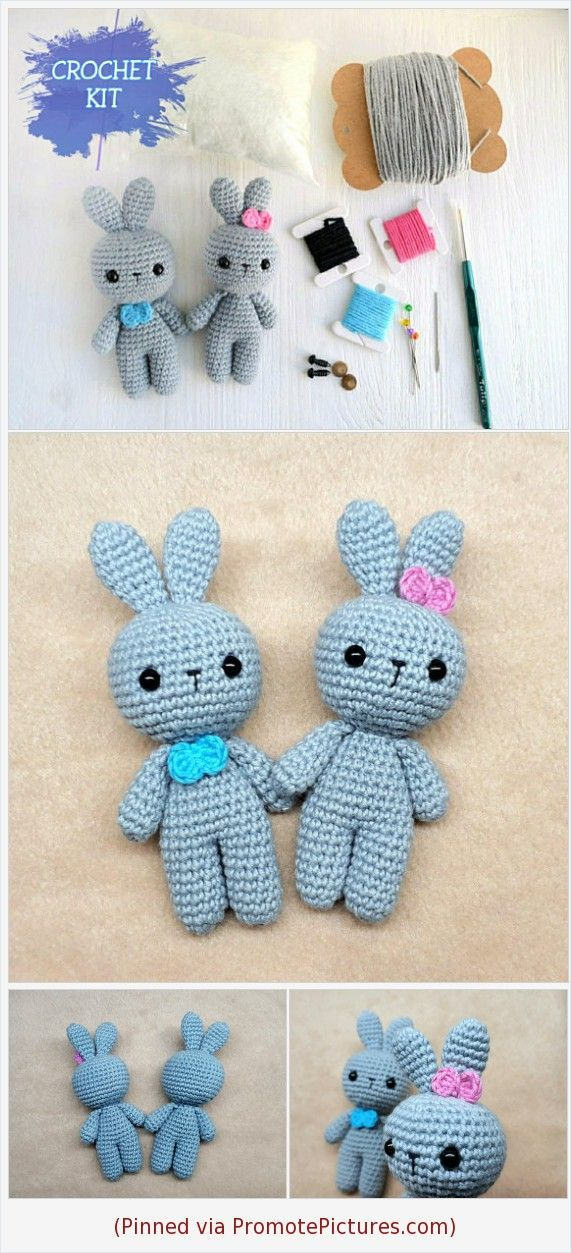 Crochet toy, DIY kit, Amigurumi pattern animals for beginner, Easter bunny, craft kit, Crochet photo tutorial, Baby shower gift for new mum #tool #diykittoy #crochettoy https://www.etsy.com/KnittedGiftsShop/listing/596345787/crochet-toy-diy-kit-amigurumi-pattern?ref=listing_published_alert  (Pinned using https://PromotePictures.com)