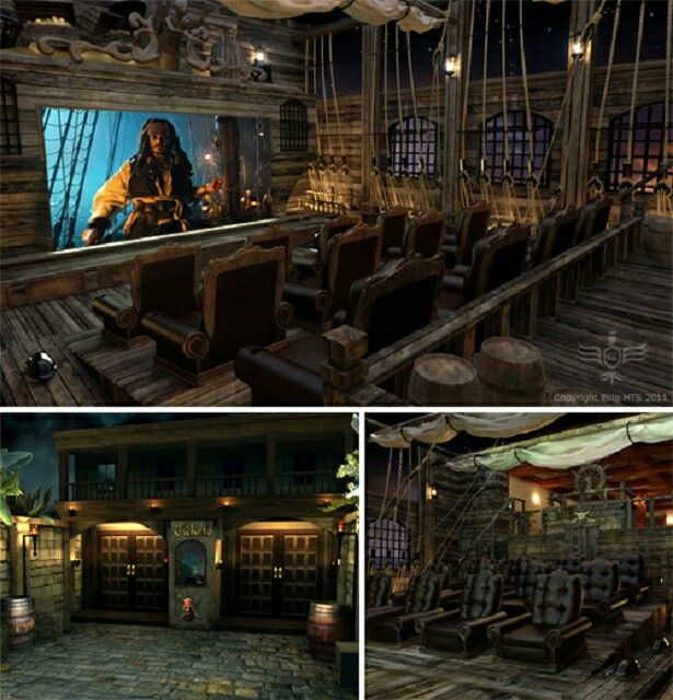 Interior Design Ideas For Home Theater: A #pirate's Home #theater!