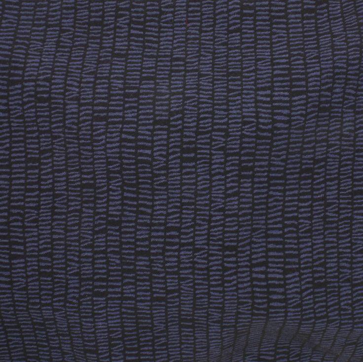 Stretch Woven Jacquard - Indigo Stripey Stripes - Distinctive Sewing Supplies