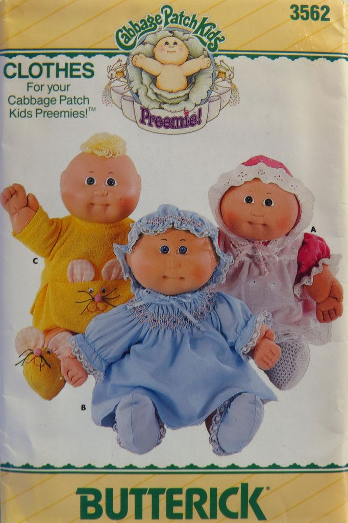 26 best images about Cabbage Patch Kids Sewing Patterns on ...