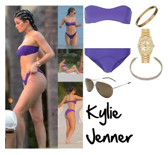 Kylie Jenner in Mexico August 12, 2015 by valenlss on Polyvore featuring polyvore, fashion, style, Lisa Marie Fernandez, Maison Margiela, Rolex, Porsche, CO and clothing
