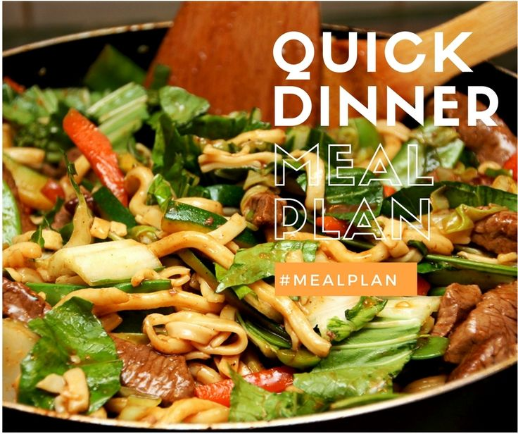 Quick Dinner Meal Plan | Take the worry out of dinners this week | http://planeatplay.com/?utm_campaign=coschedule&utm_source=pinterest&utm_medium=Plan%20Eat%20Play&utm_content=Quick%20Dinner%20Meal%20Plan