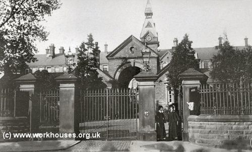 The Manor Hospital, the front gate which they knocked down, but do not know the year they did that