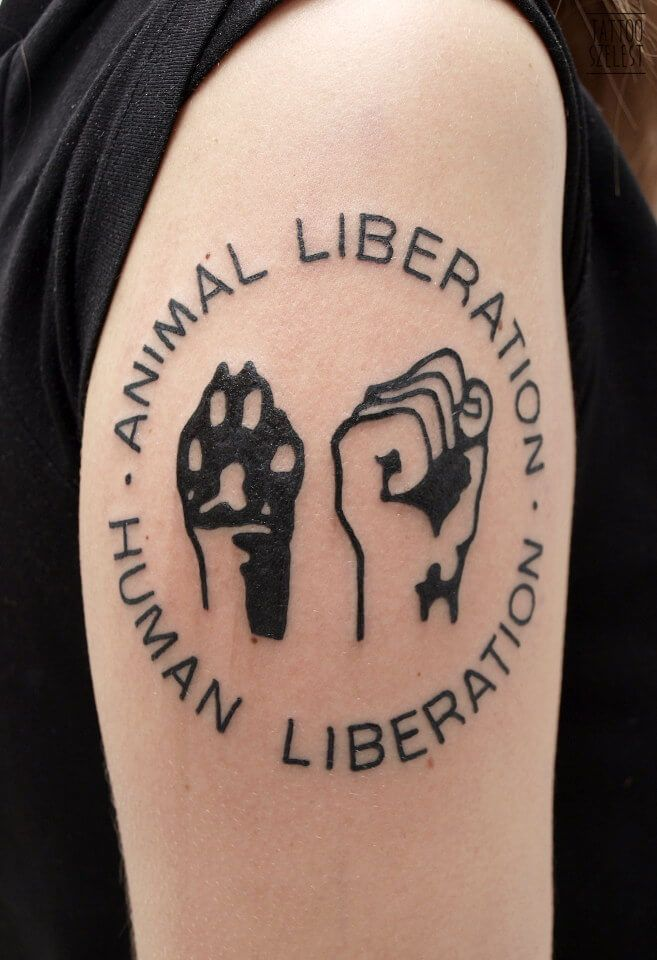 #tattooszelest #tattoo #szelest #animalliberation #humanliberation