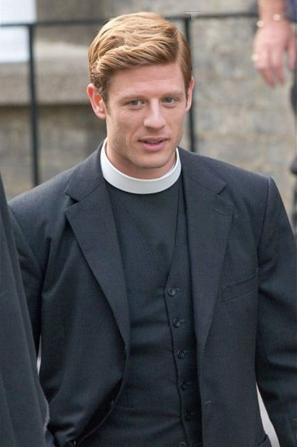 James Norton, Kacey Ainsworth and director Tim Fywell on the set of Grantchester 3, October 25, 2016 (photos Geoff Robinson)