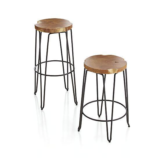 sauder carson forge adjustable height swivel bar stool coffe