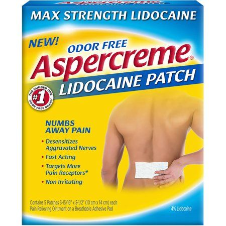 Aspercreme Lidocaine Patches, 5 count - Walmart.com