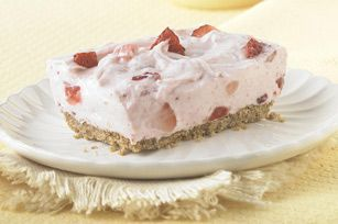 Strawberry Fields Forever! This creamy strawberry No-Bake cheesecake will be a sure winner at your next gathering! #recipe #cake