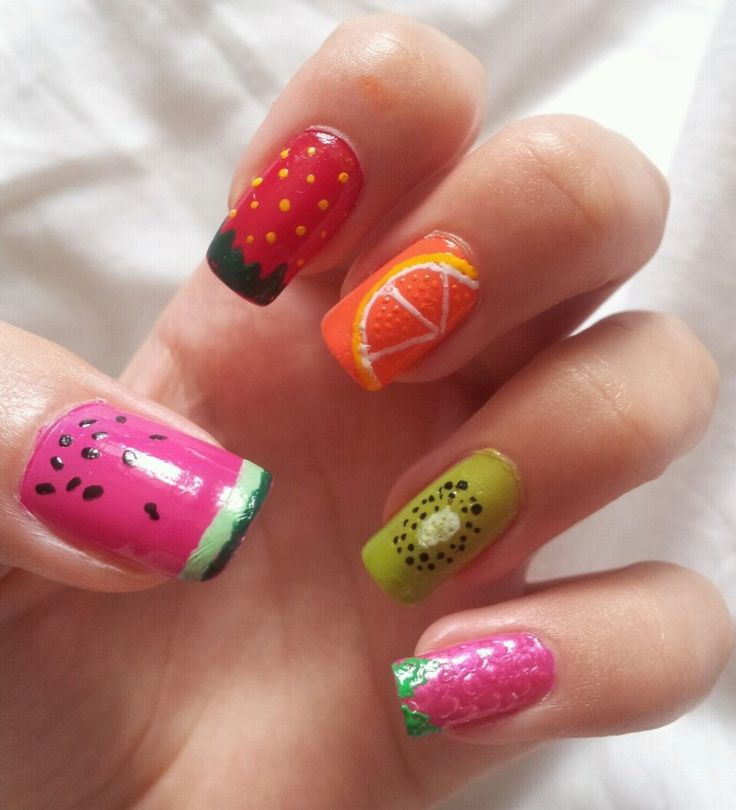 Best 20+ Fruit Nail Designs Ideas On Pinterest | Fruit Nail Art, Strawberry Nail  Art And Nail Designs Summer Easy
