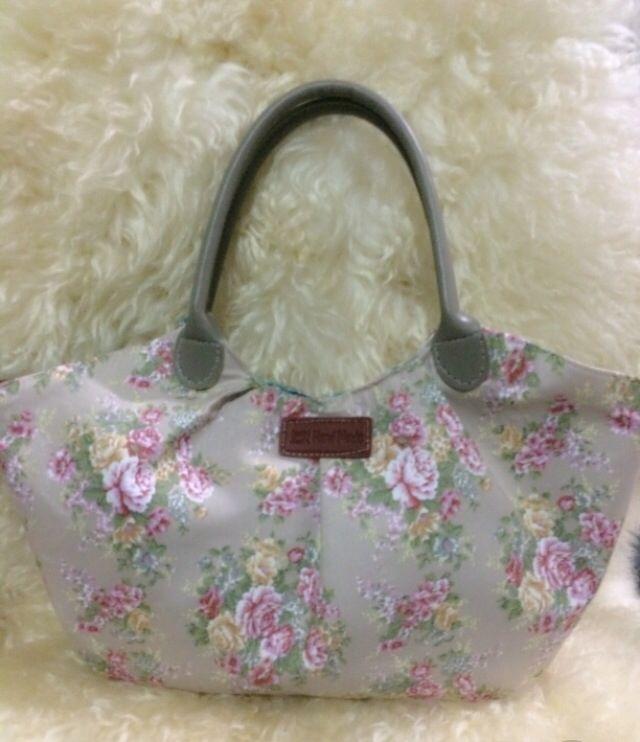 Cotton bag, mini shabby floral tote ,handmade bag