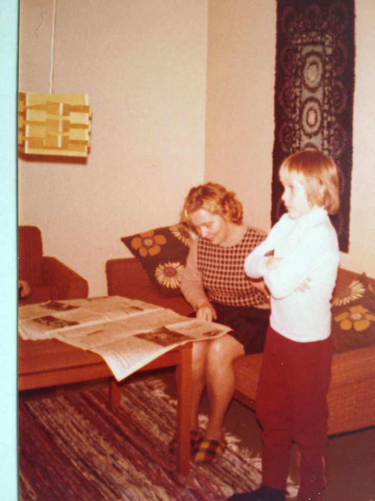 My mother and brother in 70`s.