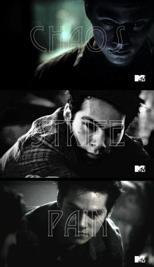 CHAOS. STRIFE. PAIN. Dylan O'Brien - evil stiles