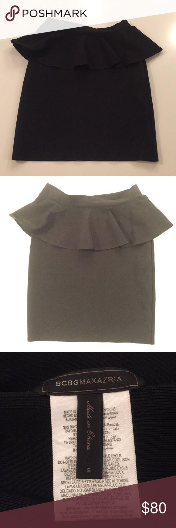 "BCBG Bandage Skirt w.Peplum SzS Like new, worn for a couple of hours. Length 18"" BCBGMaxAzria Skirts"