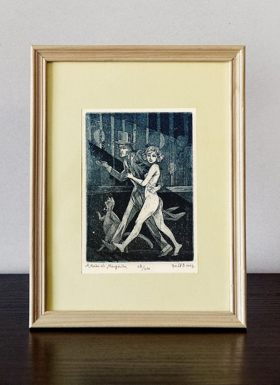 Master and Margarita - Illustration | original etching prints