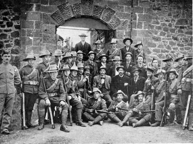 'Turbulent Boers' outside High Knoll Fort Saint Helena Island Info Boer Prisoners