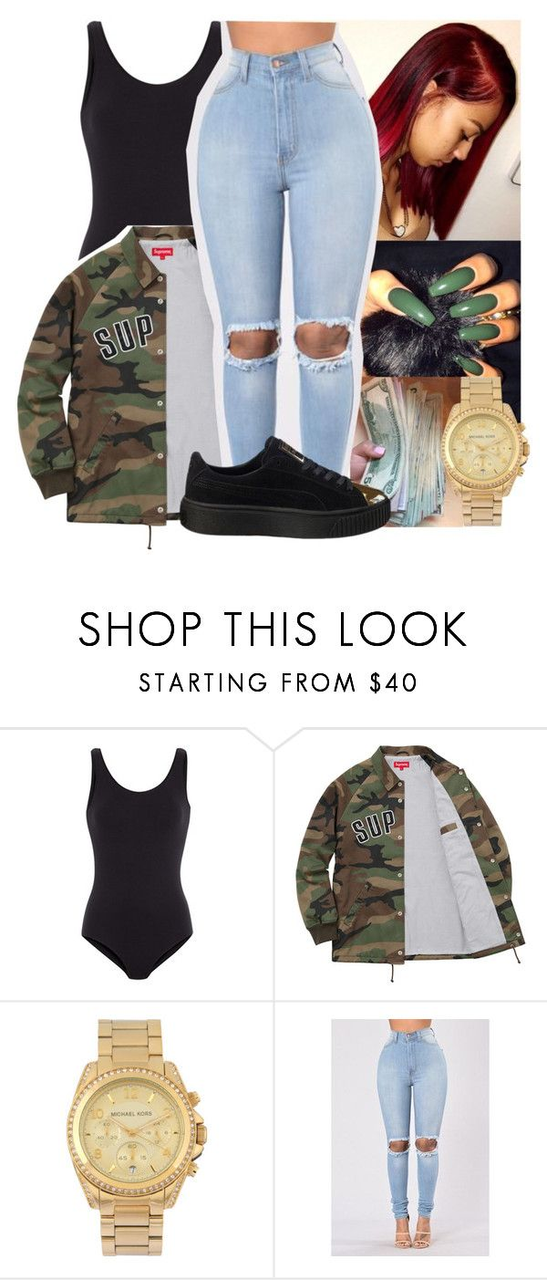 """""""Untitled #11"""" by aaliyah-marie1 ❤ liked on Polyvore featuring Comptoir Des Cotonniers, Michael Kors and Puma"""