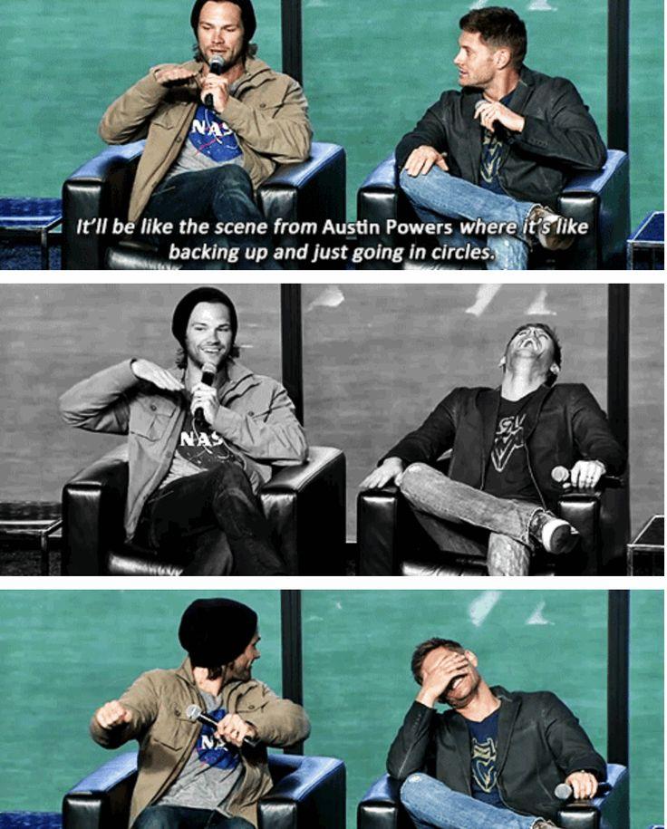 """Tire tracks on that teddy bear, man.""  Jared & Jensen convention panel #NerdHQ2013"